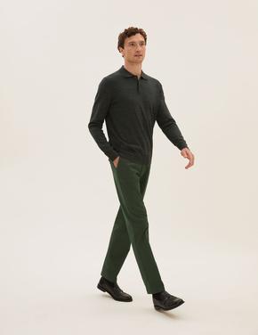 Erkek Yeşil Regular Fit Chino