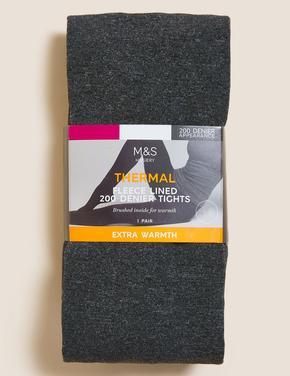 Kadın Gri 200 Denye Termal Külotlu Çorap