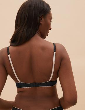 Kadın Siyah Dantel Detaylı Balenli Balcony Sütyen