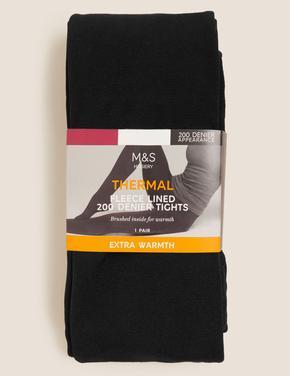 Kadın Siyah 200 Denye Termal Külotlu Çorap