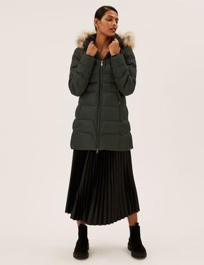Kadın Yeşil Thermowarmth™ Kapüşonlu Puffer Şişme Mont