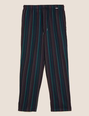 Erkek Multi Renk Tencel™ Çizgili Pijama Altı