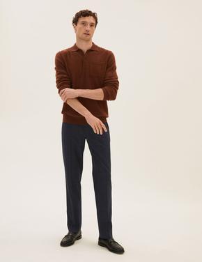 Erkek Lacivert Regular Fit 360 Flex Pantolon