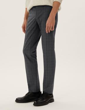 Erkek Gri Regular Fit 360 Flex Pantolon