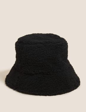 Kadın Siyah Çift Taraflı Bucket Şapka