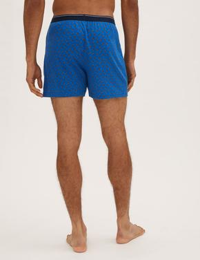 Erkek Multi Renk 3'lü Saf Pamuklu Cool & Fresh™ Boxer Seti