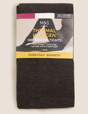 Kadın Gri 100 Denye Termal Opak Külotlu Çorap