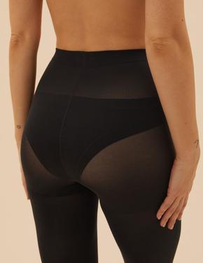 Kadın Siyah 60 Denye Secret Slimming™ Opak Külotlu Çorap