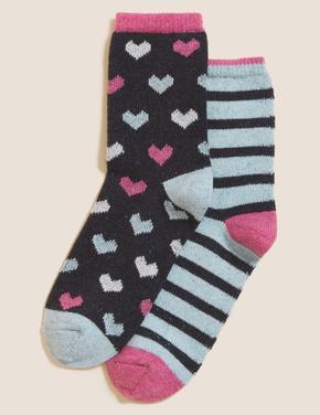 Kadın Lacivert 2'li Termal Çorap Seti