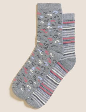 Kadın Gri 2'li Termal Çorap Seti
